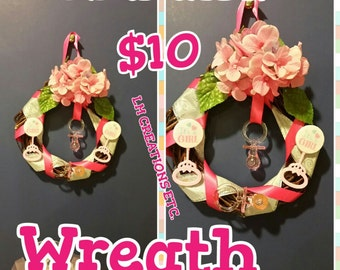 Its A Girl Baby Wreath