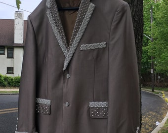 Hand-embroidered Swarowski crystals jacket or dress