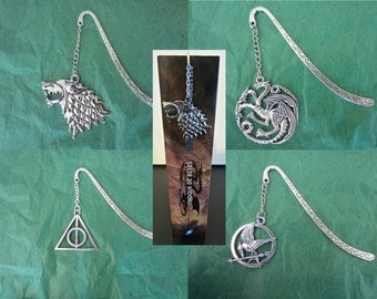 Game Of Thrones / Harry Potter Bookmarks