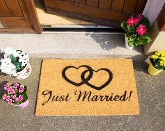 Just Married doormat - 60x40cm - Wedding gift