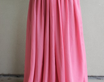 Dusty Pink chiffon maxi skirt