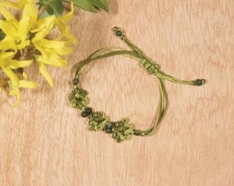 Abundant Life Braided Adjustable Bracelet
