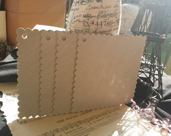 6x6 scalloped square chipboard/ 5 piece