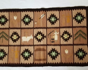 a unique handwoven wool rug