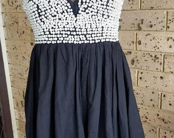 Black Dress Embellished With Pearls Little Black Dress size 10