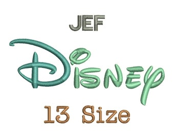 Disney Embroidery Font - 13 Size Monogram Fonts JEF File Format Machine Embroidery Fonts Design -  Instant Download