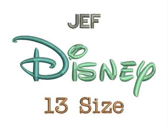 Disney embroidery font size monogram fonts jef file