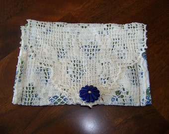Upcycled Vintage Doily Clutch