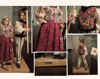 Two Beatifully Crafted Vintage Roamanian Dolls