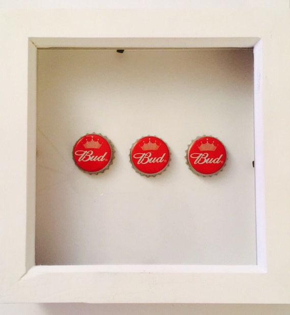 Beer bottle top frame perfect for man cave from for Beer bottle picture frame