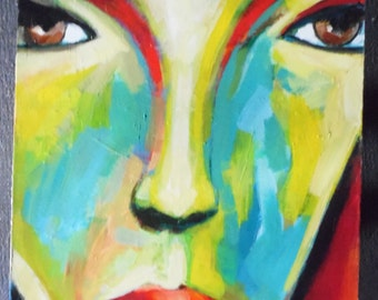Painting on stretched canvas 100x60cm / 39.4 x 23.6 inch