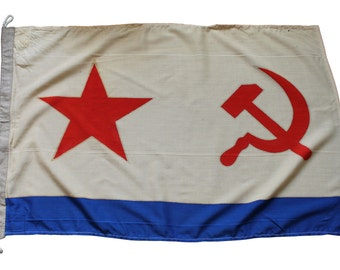 Original Soviet naval woolen flag VMF