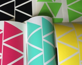 60 Triangle wall decal, triangles stickers decor, Envelope seals stickers, Geometric shape, Vinyl Wall decor stickers, nursery wall decal.