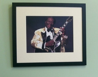 B B King framed 8' x 10' photo