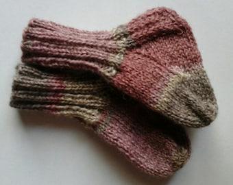 Hand Knit Baby Socks
