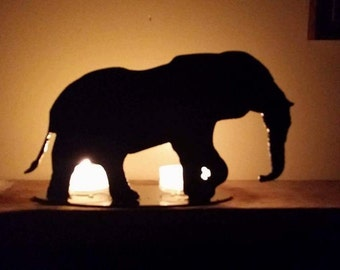 Elephant Steel Candle Holder