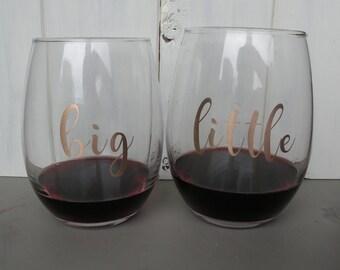 Big and Little Wine glass set