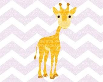 SVG Clipart, CuteBaby giraffe, Animal Safari Svg, Baby Giraffe Clipart, Nursery Animal Svg Clipart Png, Svg Cutting File Clipart Vector File