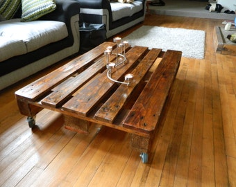 Rustic Pallet Coffee Table, Rustic, Reclaimed