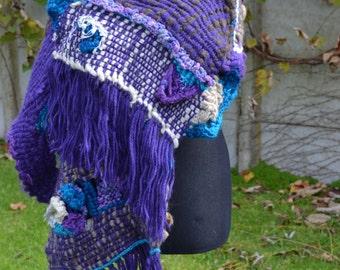 Hand Woven Shawl PsicodiliaArtRoom Loom