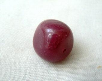 Fuchsia Agate Bead - P224