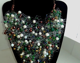 handmade necklace Spring rain