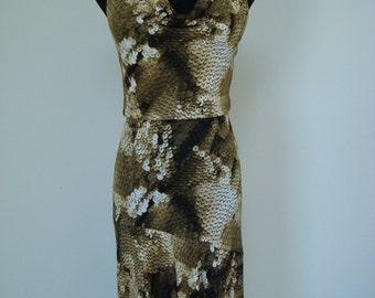 Yigal Azrouel Snake Pattern Backless Bodycon Slip Dress