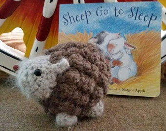 Handcrafted Bobble Sheep made with natural fibers