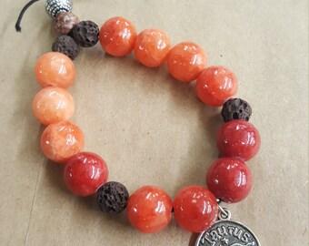 Handmade taurus zodiac charm bracelet