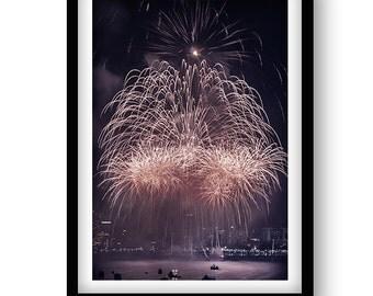 Firework Photo -  Art Print Poster Gloss photo paper.