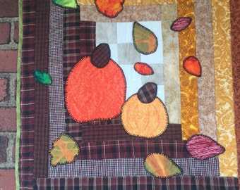 Quilted Wall Hanging - Fall's Here - Unique
