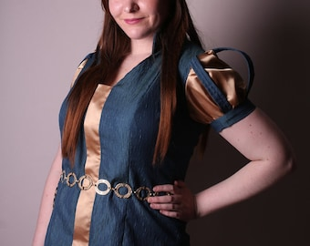 Princess Tunic in Gold and Teal