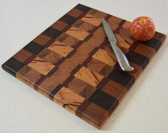 End-grain cutting board made from Australian wood - Can be made to order Inv#15