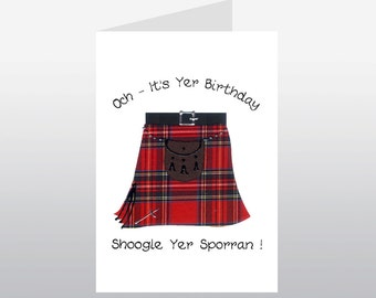 Scottish Birthday Card Kilt Shoogle WWBI56