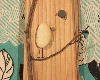 Handmade Wooden Rock Art Wall Hanging Decoration