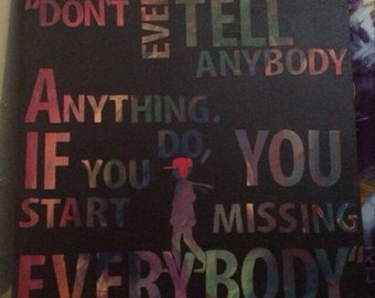 Catcher in the Rye, Holden Caulfield quote canvas painting