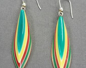 Retro 70s Plastic Earrings