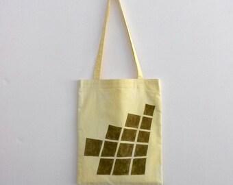 handpainted tote bag  'yellow bricks'