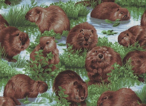 Busy Beavers Fabric Quilt