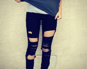 Jeans Shredded Skinny