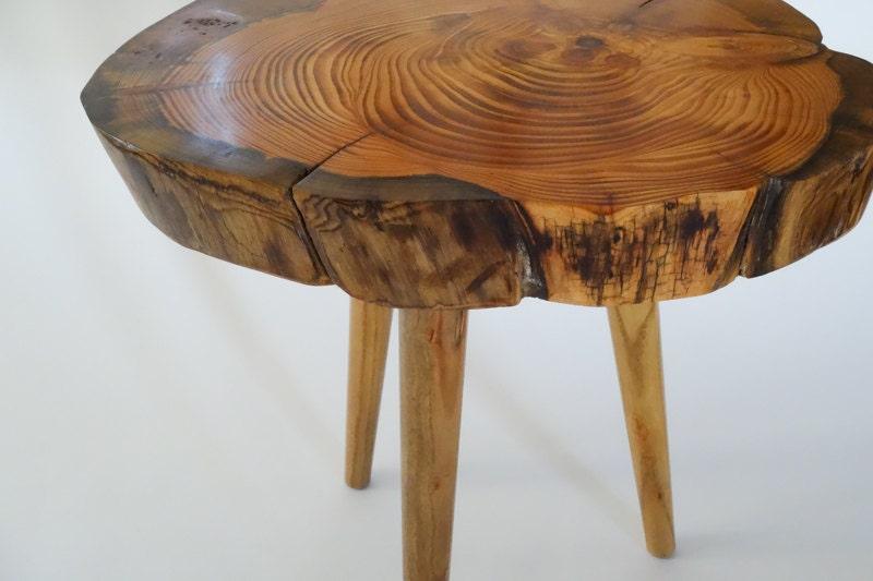 Rustic Pine Tree Table Tree Trunk Table Log Slice Table