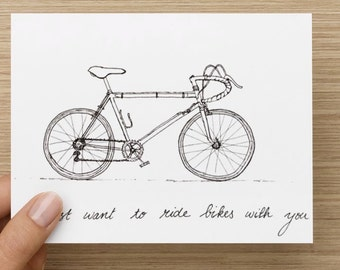 Ride Bikes with You Greeting Card
