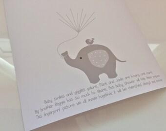 Personalised fingerprint keepsake for baby showers new baby newborn mum custom picture hand made