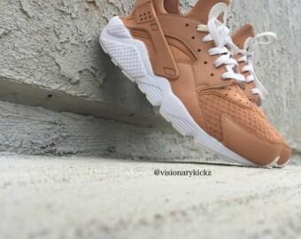 Custom Vachetta Tan Nike Huaraches (read description fro more info)