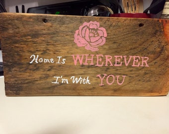Home Is Wherever I'm With You art