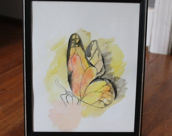Monarch Butterfly Watercolor Painting