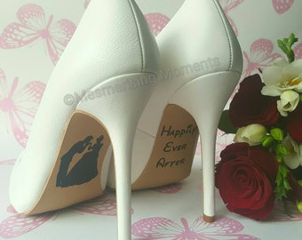 Disney Wedding Shoe Decal / Cinderella / Happily Ever After / Love / Marriage