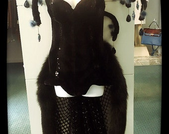 Masquerade real fur costume