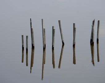 Photo Print - Reflections on Water, Still Water, Minimalist Photography