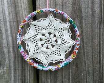 Sale Little Multi Colored Floral Doily Wall Decor